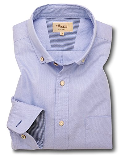 tmlewin-mens-blue-royal-oxford-button-down-casual-shirt-large
