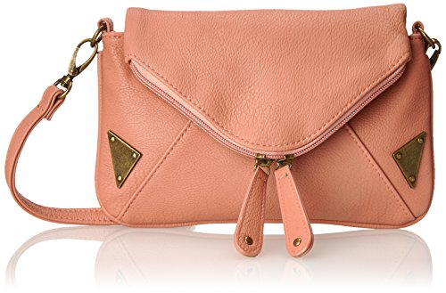 Wild Pair With Metal Plates Cross Body Handbag, Blush, One Size