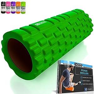 Fit Nation Foam Roller For Deep Muscle Massage - Green