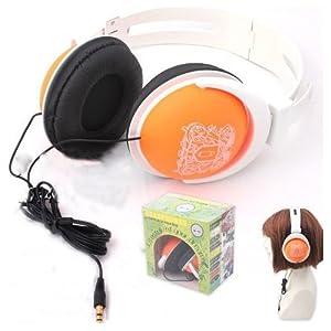 Headphone Over Ear with Anime Katekyo Hitman Reborn, Orange