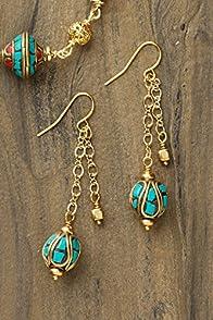 Imagine Jewelry Turquoise Inlay USA-made Earrings