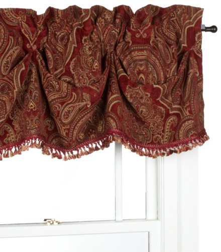 Croscill Home Glasgow Federal Valance, Red