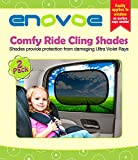 Car Sun Shade - Premium Car Window Shades - 2 Pack - Baby Car sunshades block over 97% of Harmful UV Rays and help protect your child from sunlight and glare - Car Shades easily applies without jumbo suction cups - Fits most vehicles - Comes with a Lifeti