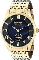 Armitron Men's 20/4988JMGP Black Dial Gold-Tone Bracelet Watch