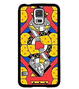 Fuson Premium King Metal Printed with Hard Plastic Back Case Cover for Samsung Galaxy S5 i9600