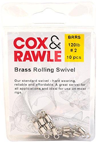 Cox & Rawle, perni girevoli in ottone, colore: bronzo, misura 2