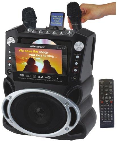 Karaoke GF829 Portable DVD/CDG/MP3G/CD Karaoke Machine+ 535 tracks + 2 Microphone +7
