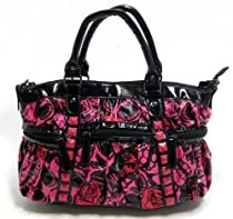 Hot Sale Iron Fist Muerte Punk Princess Skull Handbag Purse - Pink / Red
