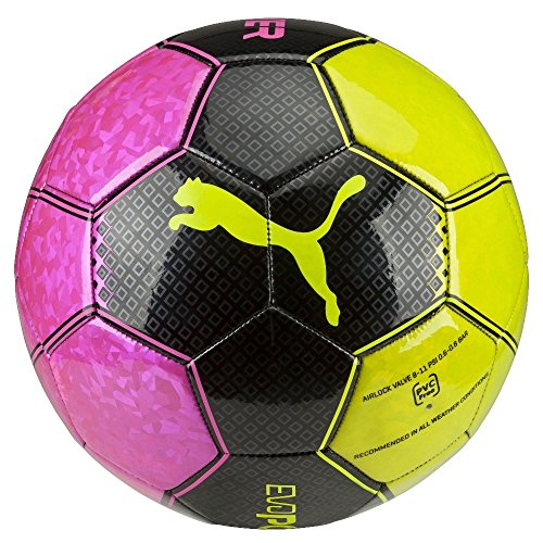 Pallone da calcio PUMA ultima Graphic 3, rosa Glo/safety Yellow/Black/trucchi, 5, 082564 10