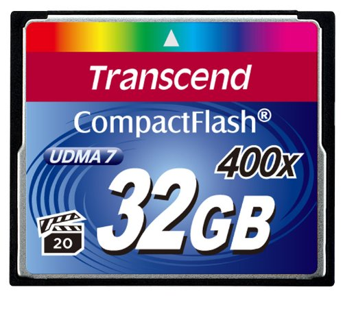 $$  Transcend 32 GB Compact Flash Card 400X (Blue)