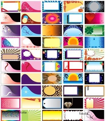Wallmonkeys Peel and Stick Wall Graphic - 50 Horizontal Business Cards - 24