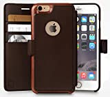 iPhone 6, 6s Wallet Case | Durable and Slim | Lightweight with Classic Design & Ultra-Strong Magnetic Closure | Faux Leather | Dark Brown