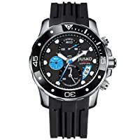 JIUSKO Deep Sea Series Men's Quartz Multifunction Silicone Dive Watch 71LSB1302 by JIUSKO