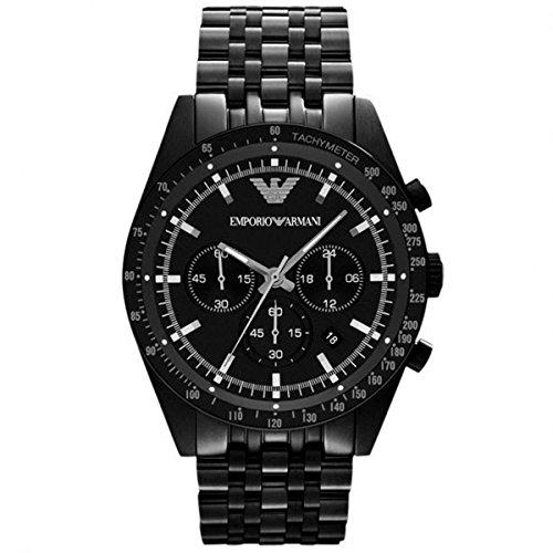 Emporio Armani AR5989 - Reloj para hombres, correa de acero inoxidable color negro