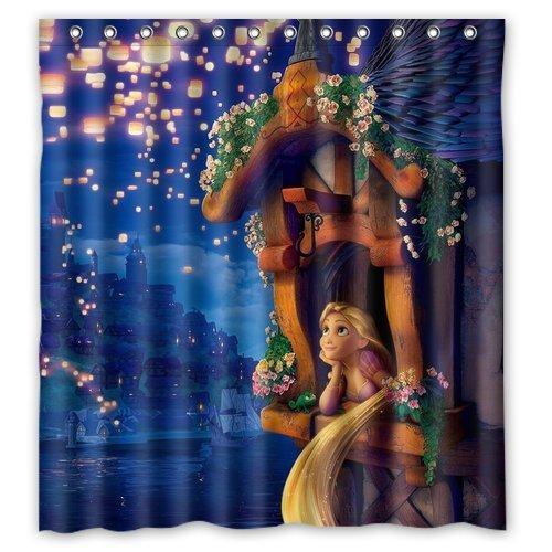 Classic Cartoon Disney Princess Tangled Rapunzel Custom Shower Curtain