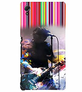 PrintVisa Music Rock star 3D Hard Polycarbonate Designer Back Case Cover for Sony Xperia Z3 + Plus