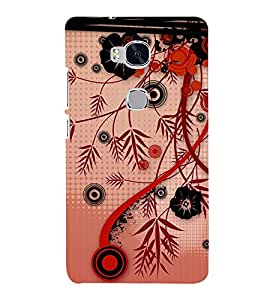 Flower Design 3D Hard Polycarbonate Designer Back Case Cover for Huawei Honor 5X :: Huawei Honor X5 :: Huawei GR5