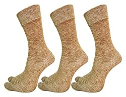 Krystle Ladies Woolly Winter wear Thumb Socks - Pack Of 3