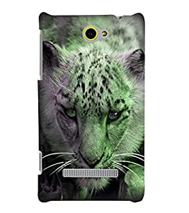 Fuson Premium Stalking Leopard Printed Hard Plastic Back Case Cover for HTC Windows Phone 8S