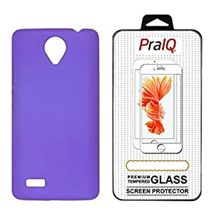 PraIQ Hard Back Case with Tempered Glass For Vivo Y22 - Purple