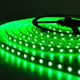 Cinta de luces LED, contra agua, flexible, de 12V y 300 SMD 3528 LED, 5 Metros, color verde.