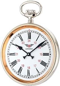 Catorex Men's 170.1.1834.110 La Pautele Etched Brass White Dial Pocket Watch