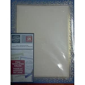 Gartner foil certificates 15 count blue and for Www gartnerstudios com certificates templates