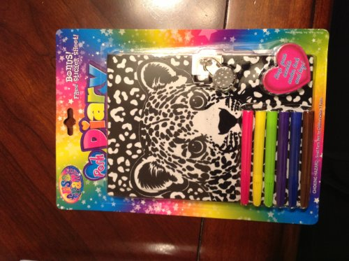 Lisa Frank Posh Diary with Lock and Key ( Bonus Free Sticker Sheet - 1