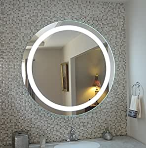 wall mounted lighted vanity mirror led mam1d40 commercial grade 4. Black Bedroom Furniture Sets. Home Design Ideas