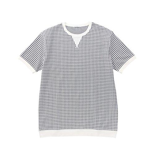 (タケオ キクチ)TAKEO KIKUCHI TOKYO モノトーンダイヤ柄Tシャツ