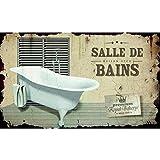 plaque de porte 224 fixer toilettes en m 233 tal wc r 233 tro vintage cl 233 mentine cr 233 ations fr