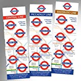 Bakerloo Line Mini Marks 6 Magnetic Page Marks London Underground Bookmarks