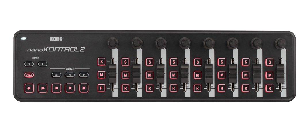 Korg nanoKONTROL2 Slim-Line USB Control Surface, Black