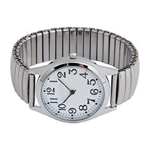 Reloj Pulsera Acero inoxidable Elastico 36mm Elegante marca Bsuper Mart