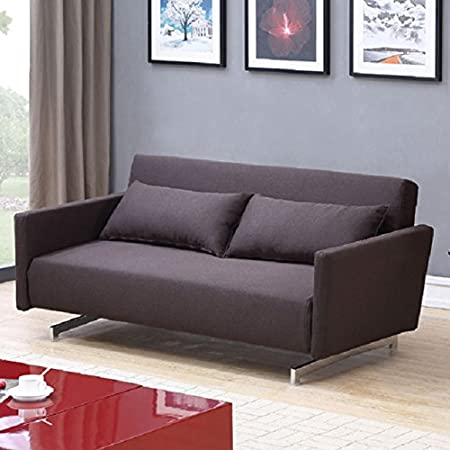 JK042 Modern Sofa Sleeper in Chocolate Brown