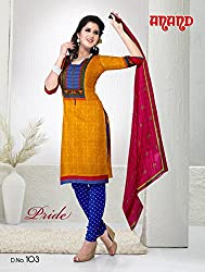Anand Prints Women's Cotton Unstitched Dress Material (Dno103_MultiColored)
