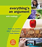 img - for Everything's an Argument with Readings with 2016 MLA Update book / textbook / text book