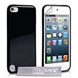 iPod Touch 5G Glossy Silicone Case Blackby Yousave Accessories