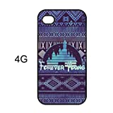 JIAXIUFEN Forever Young Disney Inspired Hard Plastic Case For Apple iPhone 4 4G 4S Skin Cover Protector Accessory