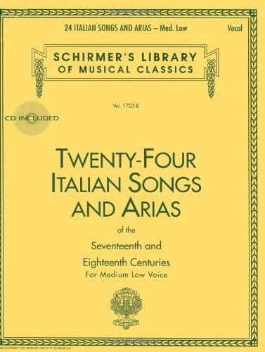 24 Italian Songs & Arias - Medium Low Voice...