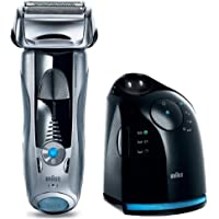 Braun Series 7 745 Pulsonic Pro-System Electric Rechargeable Foil Shaver with Clean and Renew Charger