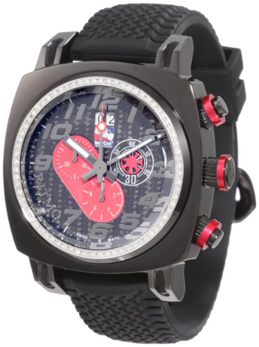 Ritmo Mundo Men's D221/1 Blk Red Diamond Indycar Sport Quartz Chronograph Watch