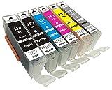 【全色増量版】BCI-351XL+BCI-350XL/BK/M/Y/C/GY計6色セット マルチパック JANコード:4562487224332 【1セット6個】 大容量 ハイグレードタイプ 6色×1セット canon 互換 インク ICチップ付き 残量表示機能付き 【jonmokブランドオリジナル】