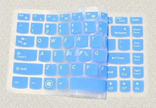 Folox Soft Silicone Keyboard Protector Cover Skin For Lenovo G360 G40 G400 G400S G405 G405S G410 G410St G470 G475 G480 G485 G490 M490 M495 S410P Sr1000 V370 V470 V480 V480C (Blue)