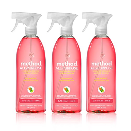 Method All-purpose Natural Surface Cleaner, Pink Grapefruit, 28 ounce (3 Count) (Natural Kitchen Cleaner compare prices)