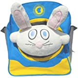 """Bubele Patch Buddies 7"""" Funny Bunny Soft Plush Toy White And Pink With Blanket"""