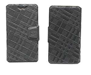 J Cover Nubuck Series Leather Pouch Flip Case With Silicon Holder For Sony Xperia Z HSPA+ Black
