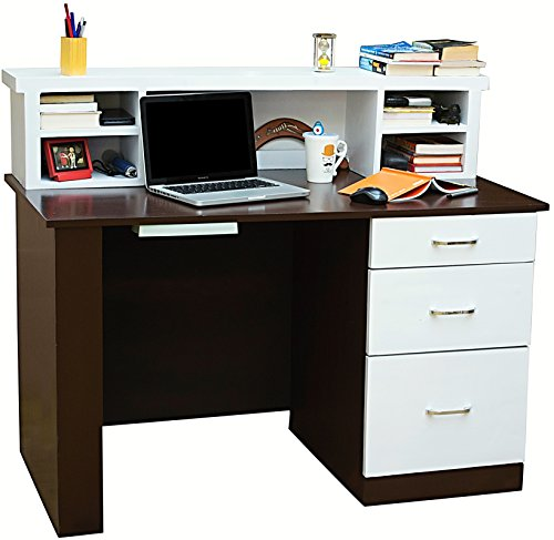 Mubell Nordic Study Table in 4 Feet x 2 feet Size, additional Hutch, Three drawers, and Worstation Utility Tray, Premium Hardware