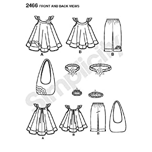 Simplicity Sewing Pattern 2466 Child's Sportswear, A (3-4-5-6-7-8)