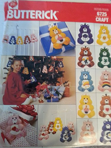 Butterick Craft Pattern 6725 - Care Bear Ornaments front-46463